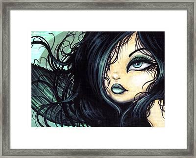 Mermaid Sylvara Framed Print by Elaina  Wagner