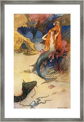 Mermaid Framed Print by Warwick Goble