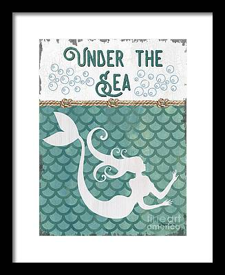 Mermaid Tail Framed Prints