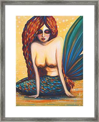 Mermaid Wet Framed Print by Beryllium Canvas