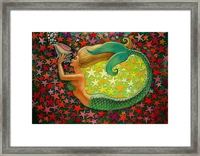 Mermaid's Circle Framed Print