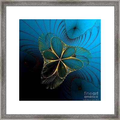 Mermaid's Corsage Framed Print by Sandra Bauser Digital Art