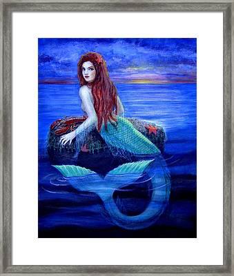 Mermaid's Dinner Framed Print by Sue Halstenberg
