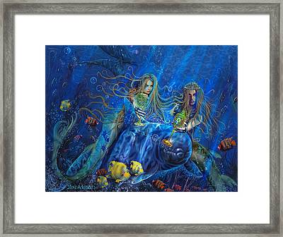 Mermaids Of Acqualainia Framed Print