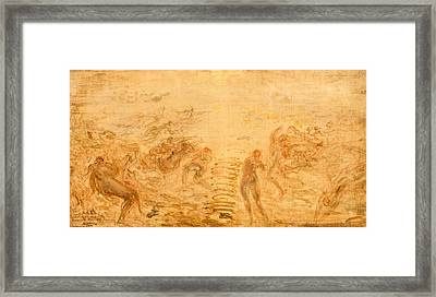 Mermaids Under Water Framed Print by Felix Ziem