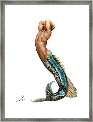 Merman Framed Print by Bruce Lennon