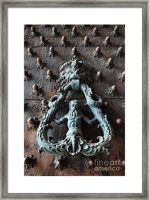 Merman Door Knocker Framed Print
