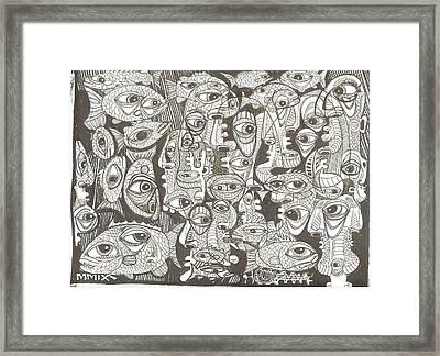 Merman Metamorphesis Framed Print by Robert Wolverton Jr