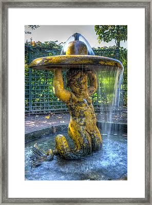 Merman Water Fountain Framed Print