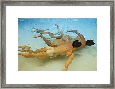 Mermen - Sand And Sea Framed Print by Thomas Mitchell