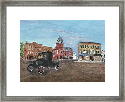 Old New England Town Framed Print