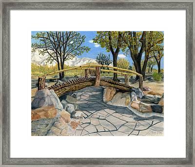 Merritt Park Bridge Framed Print by Joy Lavery
