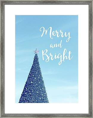 Merry And Bright - Art By Linda Woods Framed Print