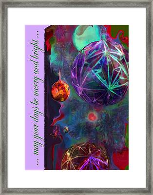 Merry And Bright Holidays Framed Print