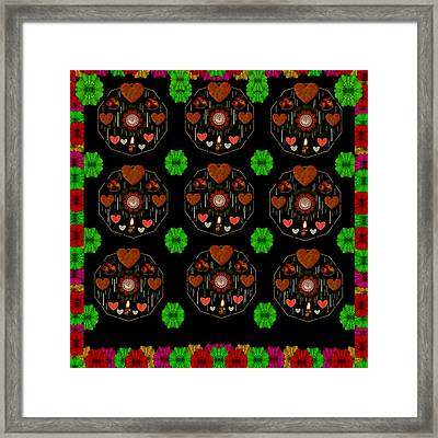 Merry And Happy  Candy With Flair Framed Print by Pepita Selles