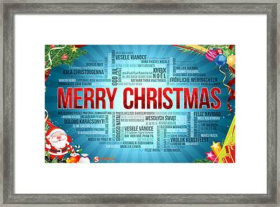 Merry Christmas 3 Framed Print by F S