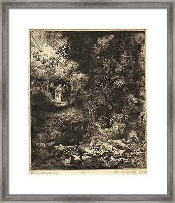 Merry Christmas After Rembrant Framed Print by Randy Sprout