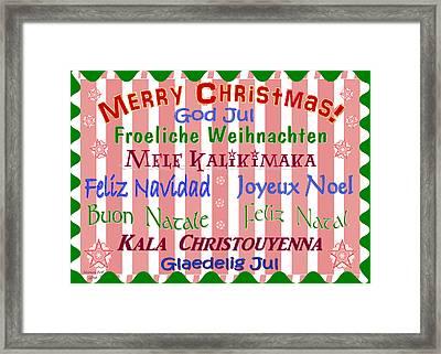 Merry Christmas And God Jul Framed Print