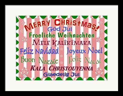 Feliz Natal Framed Prints