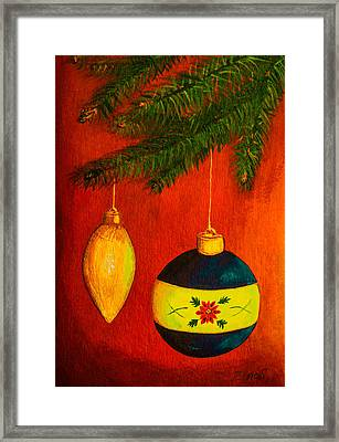 Merry Christmas And Happy New Year Framed Print by Zina Stromberg