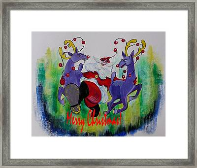 Merry Christmas Framed Print by Anna  Duyunova