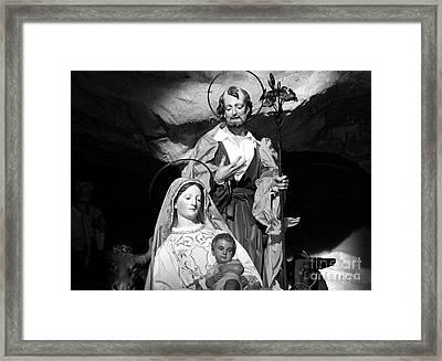 Merry Christmas - Black And White Framed Print by Stefano Senise