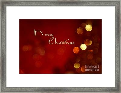 Merry Christmas Card - Bokeh Framed Print