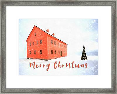 Merry Christmas Card Painting Framed Print by Edward Fielding