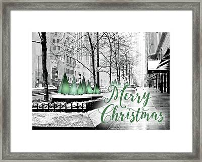 Merry Christmas Chicago Framed Print