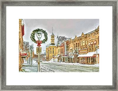 Merry Christmas - Columbus Framed Print by Rod Melotte