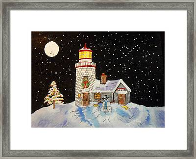 Framed Print featuring the painting Merry Christmas  by Connie Valasco
