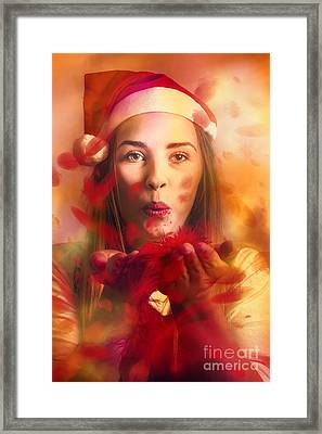 Merry Christmas Elf Framed Print