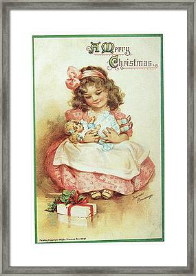 Merry Christmas For My Dolly Framed Print