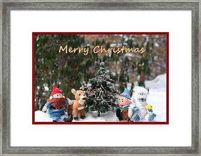 Merry Christmas From Rudolph And Friends Framed Print