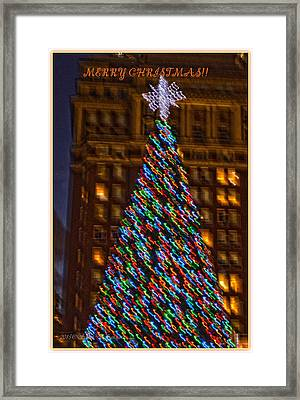 Merry Christmas Greetings Framed Print