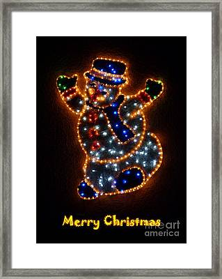 Merry Christmas Framed Print by Jean Bernard Roussilhe