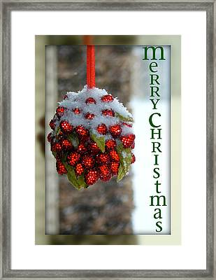 Merry Christmas Framed Print by Lisa Knechtel