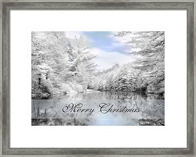Merry Christmas - Lykens Reservoir Framed Print by Lori Deiter