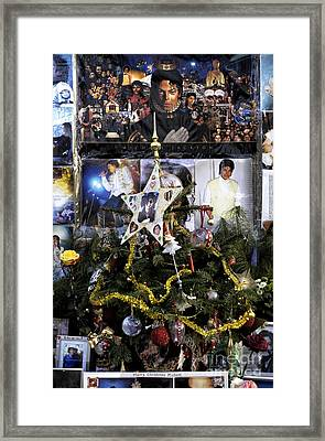 Merry Christmas Michael Jackson Framed Print by John Rizzuto