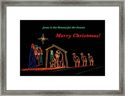 Merry Christmas Framed Print by Penny Lisowski