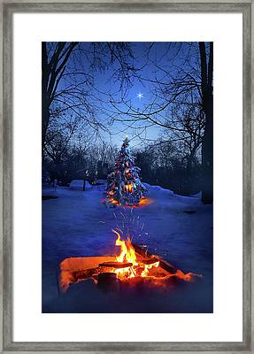 Framed Print featuring the photograph Merry Christmas by Phil Koch
