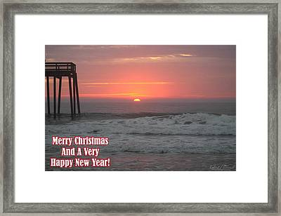 Merry Christmas Sunrise  Framed Print