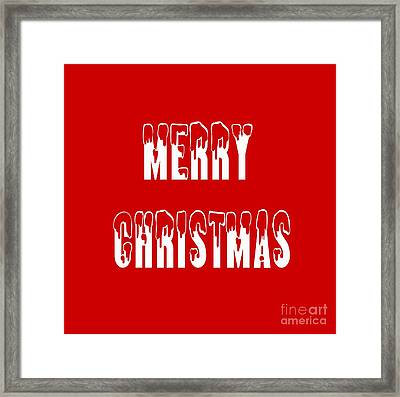 Merry Christmas Tee Framed Print by Edward Fielding