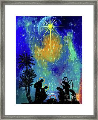 Framed Print featuring the painting  Merry Christmas To All. by Andrzej Szczerski