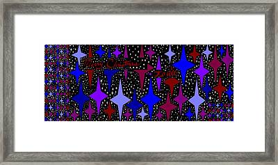 Merry Christmas To All, Starry, Starry Night Framed Print by Linda Velasquez