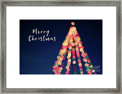 Merry Christmas Tree Card Framed Print by Edward Fielding