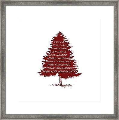 Merry Christmas Tree Framed Print by Mordax Furittus