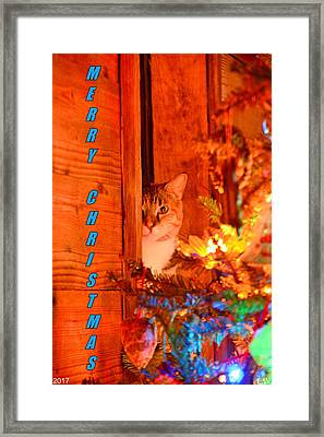 Framed Print featuring the photograph Merry Christmas Waiting For Santa by Lisa Wooten