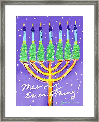 Merry Everything Framed Print by Jean Pacheco Ravinski