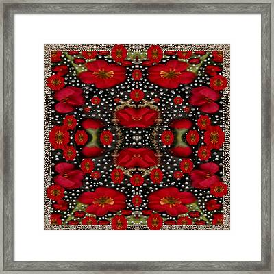 Merry Florals Framed Print